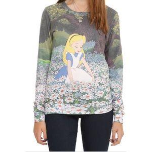Disney Alice in Wonderland Daises Pullover Sweater